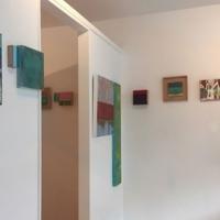 Innenraum vorne, Ausstellung Monika Schiwy