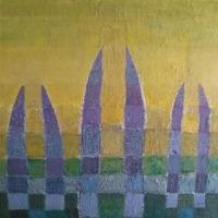 Dreifaltigkeit – Acryl auf Holz, 95 x 95 cm, 1992