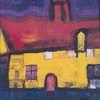 Das alte Bauernhaus – Acryl auf Holz, 90 x 110 cm, 1995
