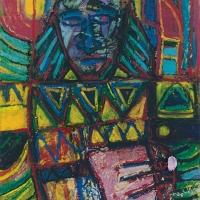 Der König, Ölpastell auf Karton, 50 x 70 cm, 1996