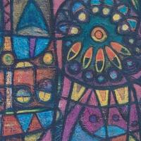 Lustgarten – Acryl auf Holz, 90 x110 cm, 1995